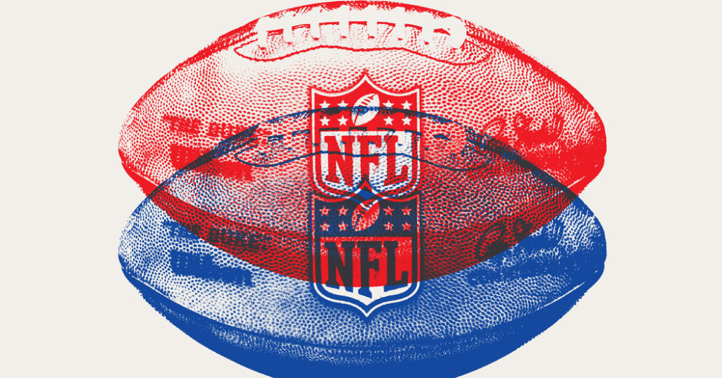 NFL Blue and Red Logo